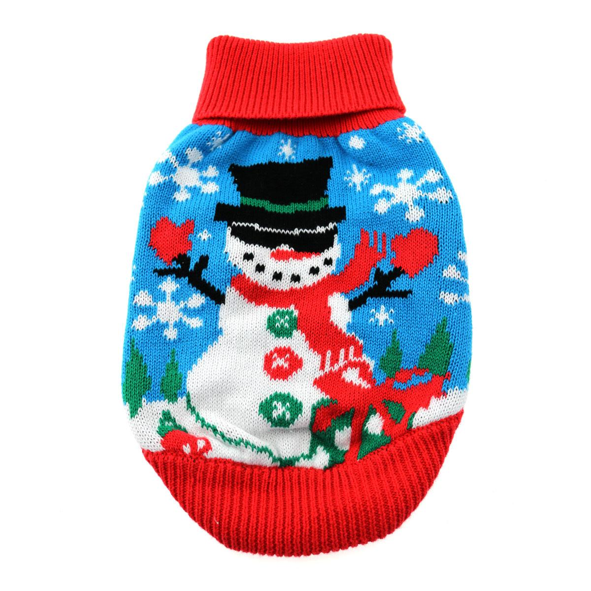 Holiday Snowman Ugly Dog Sweater by Doggie Design