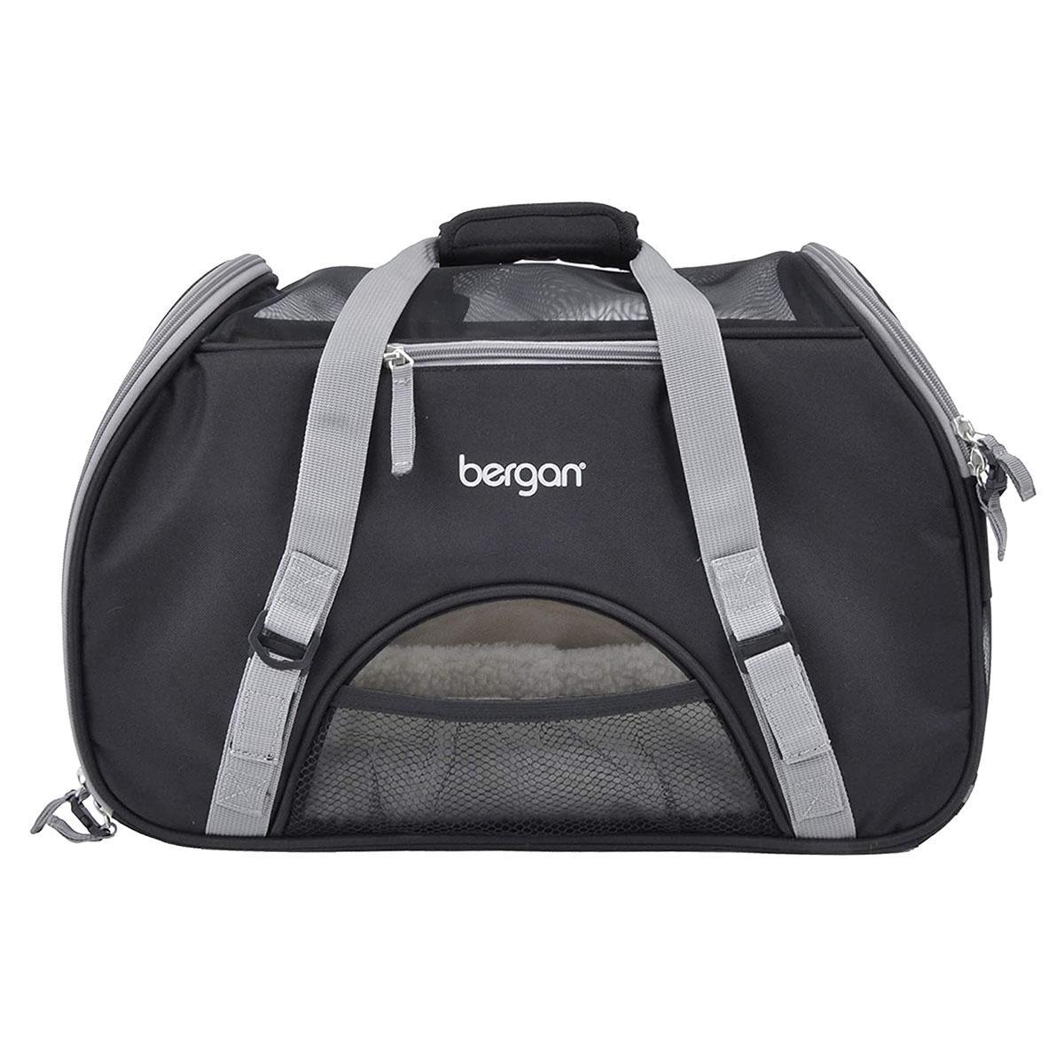 Bergan Comfort Pet Carrier - Black and Grey
