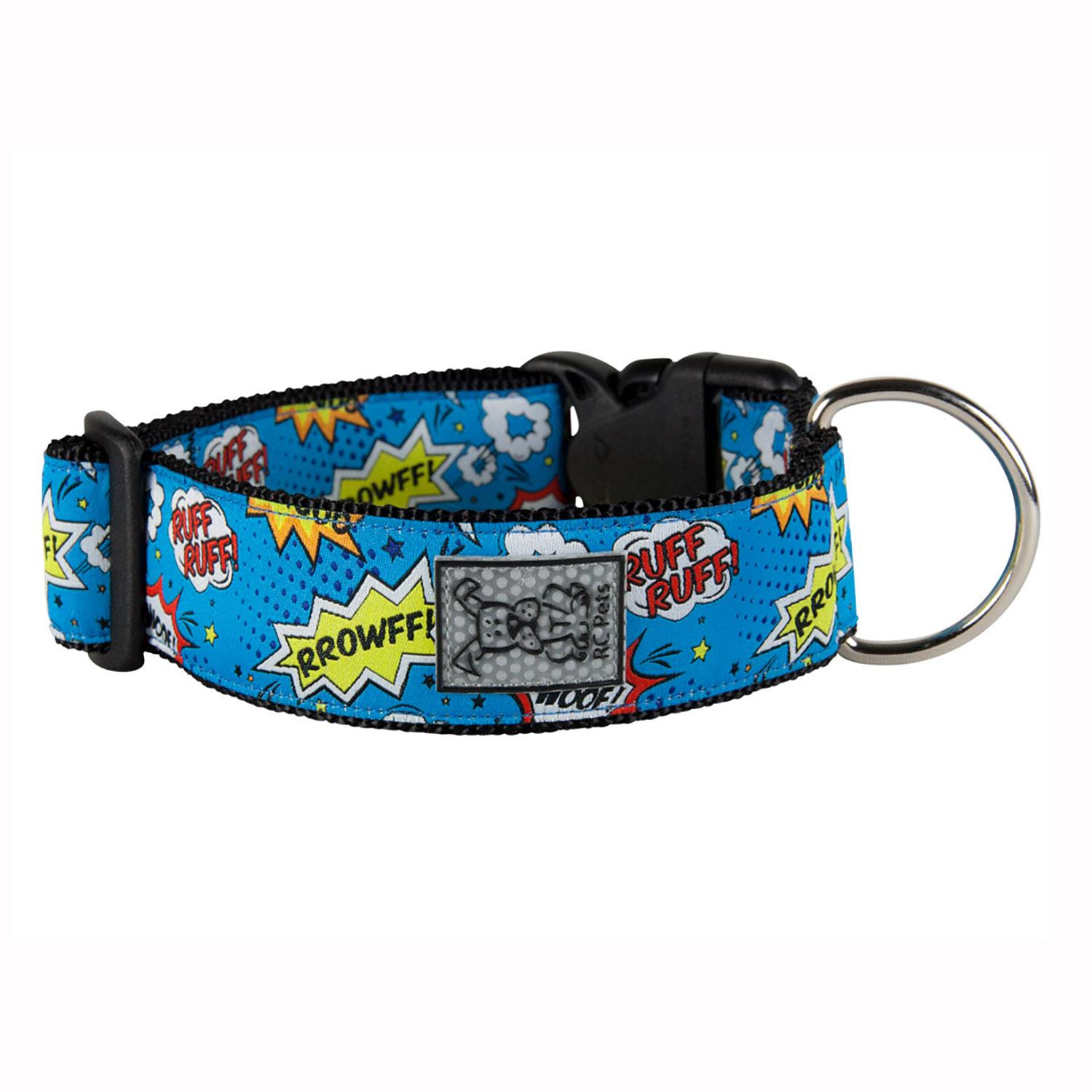 Comic Sounds Wide Clip Adjustable Dog Collar