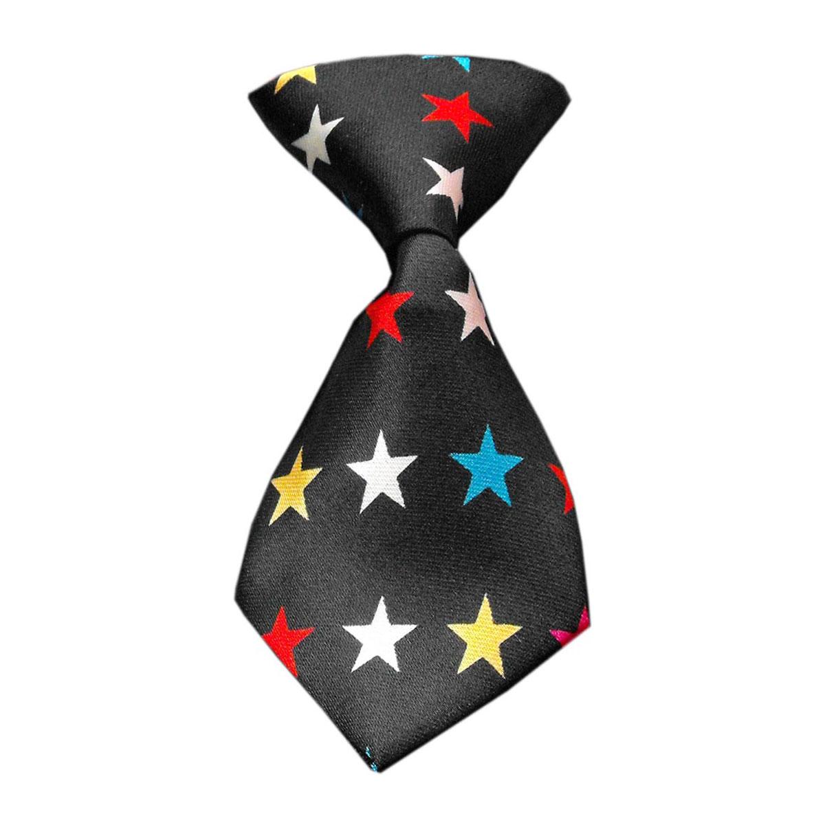 Confetti Stars Dog Neck Tie