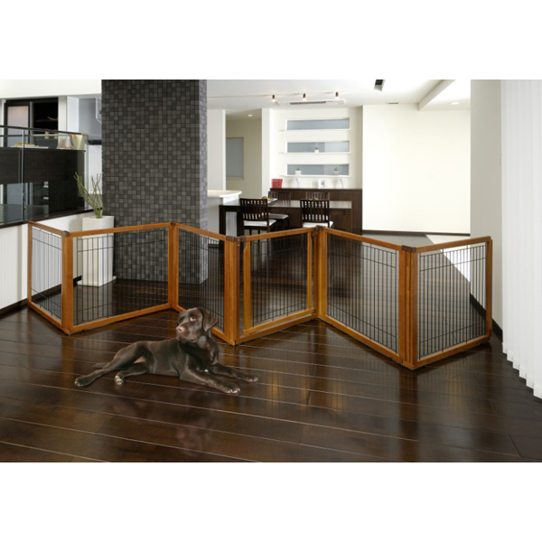 Convertible Elite Pet Gate - 6 Panel - Autumn Matte