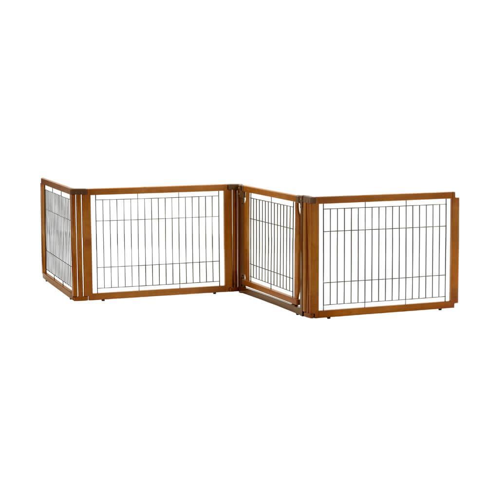 Convertible Elite Dog Gate Low 4-Panel - Autumn Matte