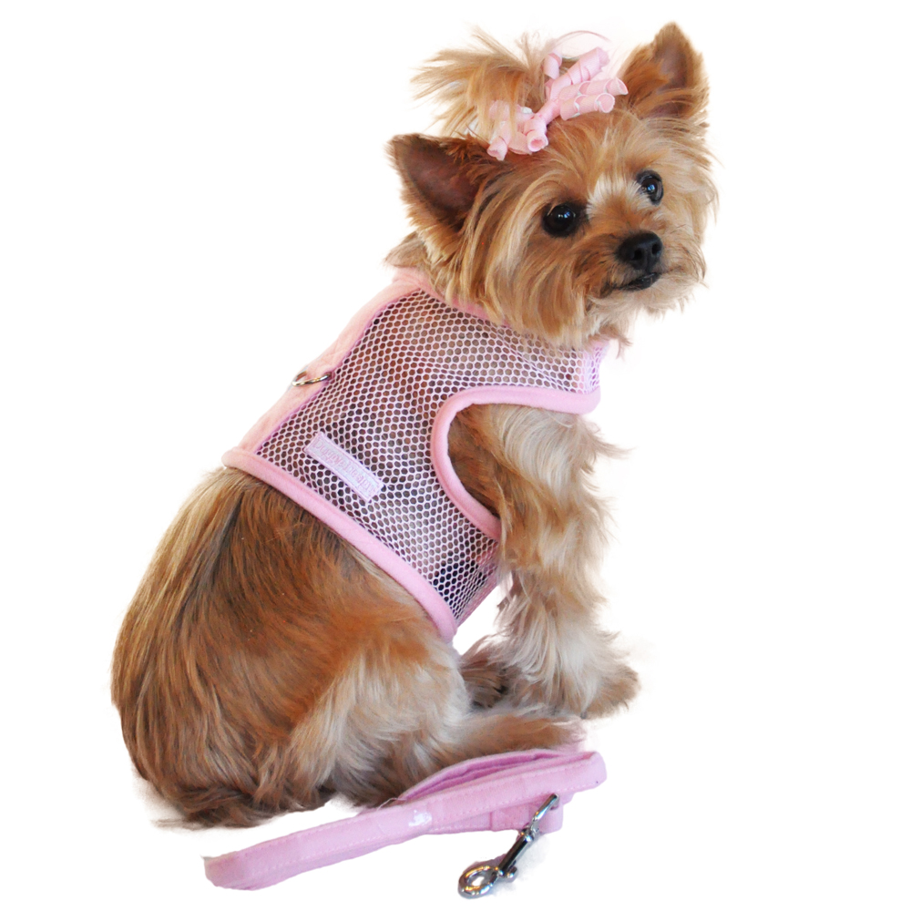 Cool Mesh Dog Harness by Doggie Design - Solid Pink