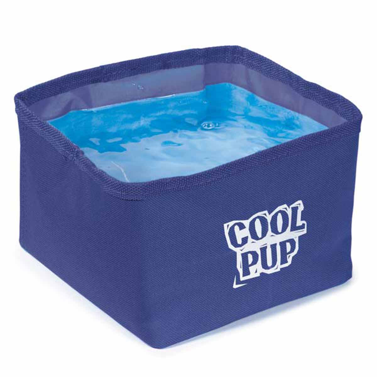 cool pup portable pet bowl blue with same day shipping baxterboo. Black Bedroom Furniture Sets. Home Design Ideas