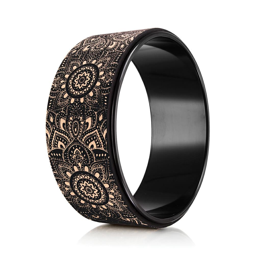 Cork Yoga Wheel - Mandala Black