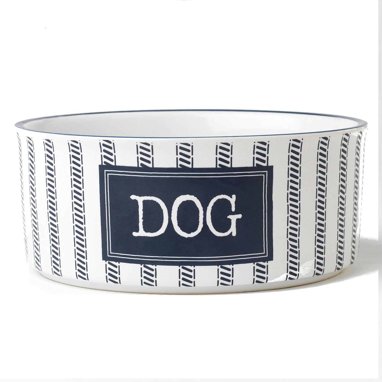 Country Dog Bowl - Blue