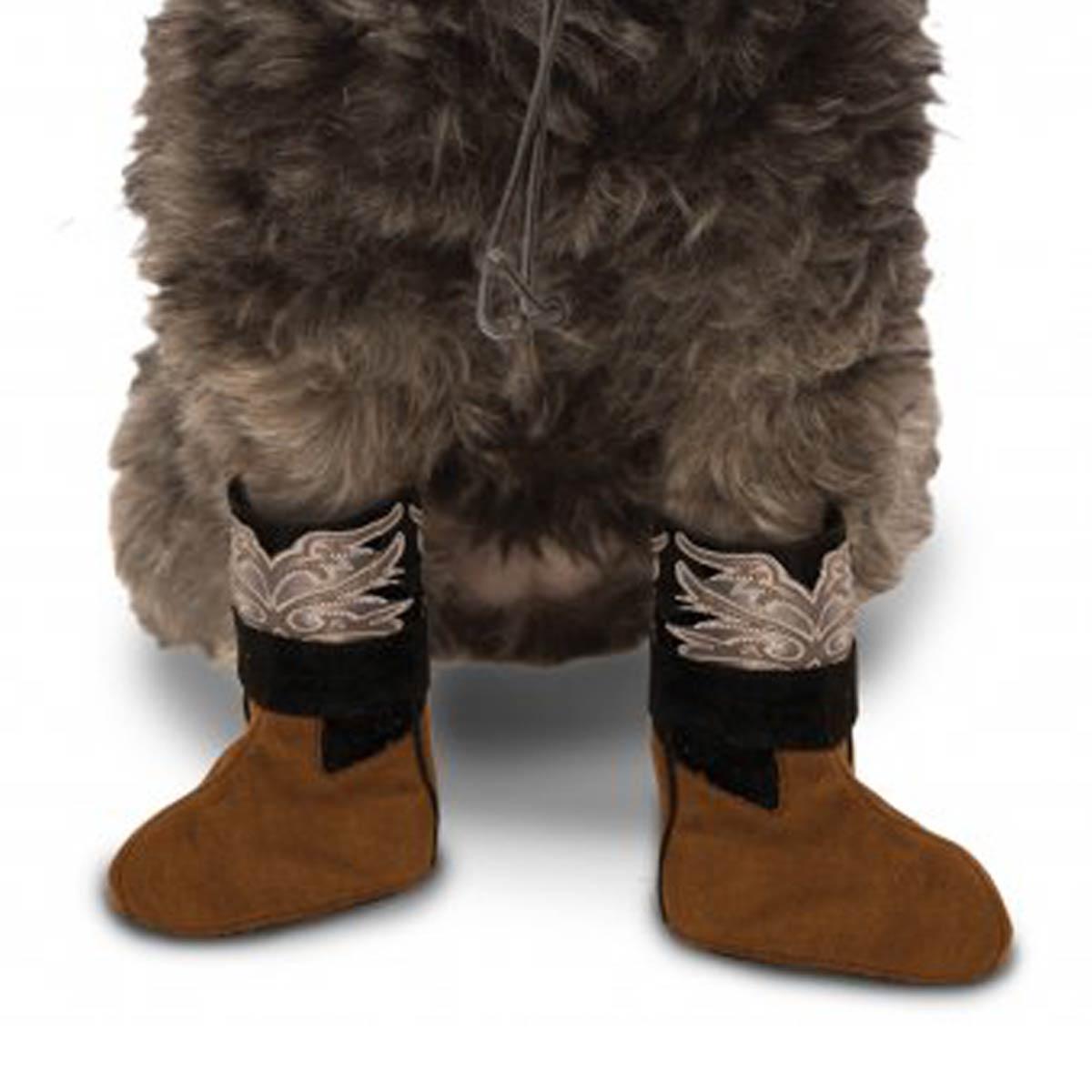 Cowboy Boot Cuff Dog Costume - Brown