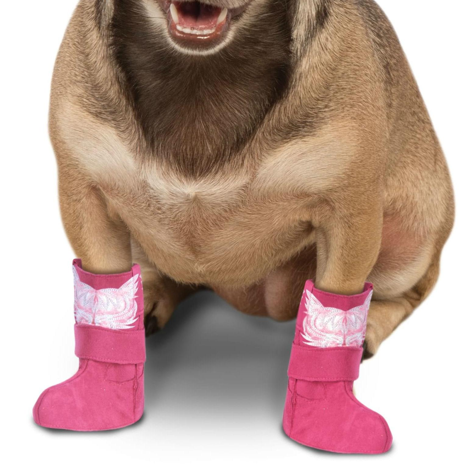 Cowboy Boot Cuff Dog Costume - Pink