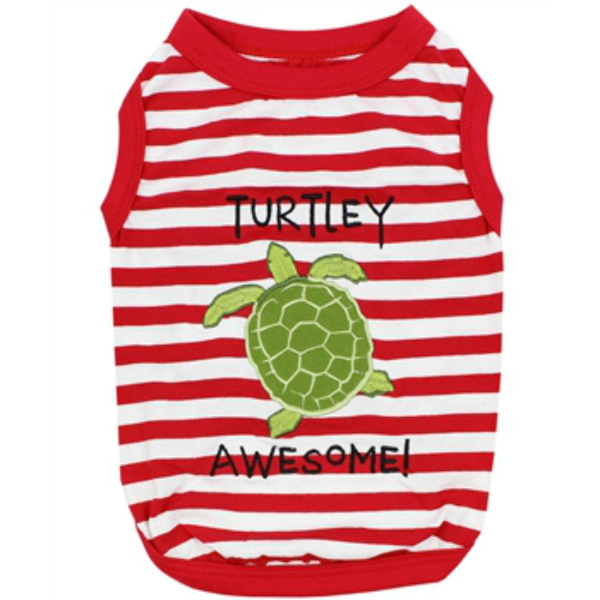 Turtley Awesome Dog Tank by Parisian Pet - Red