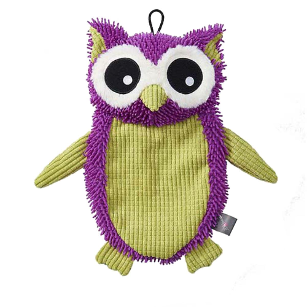 FlatRageous Dog Toy - Purple and Green Owl