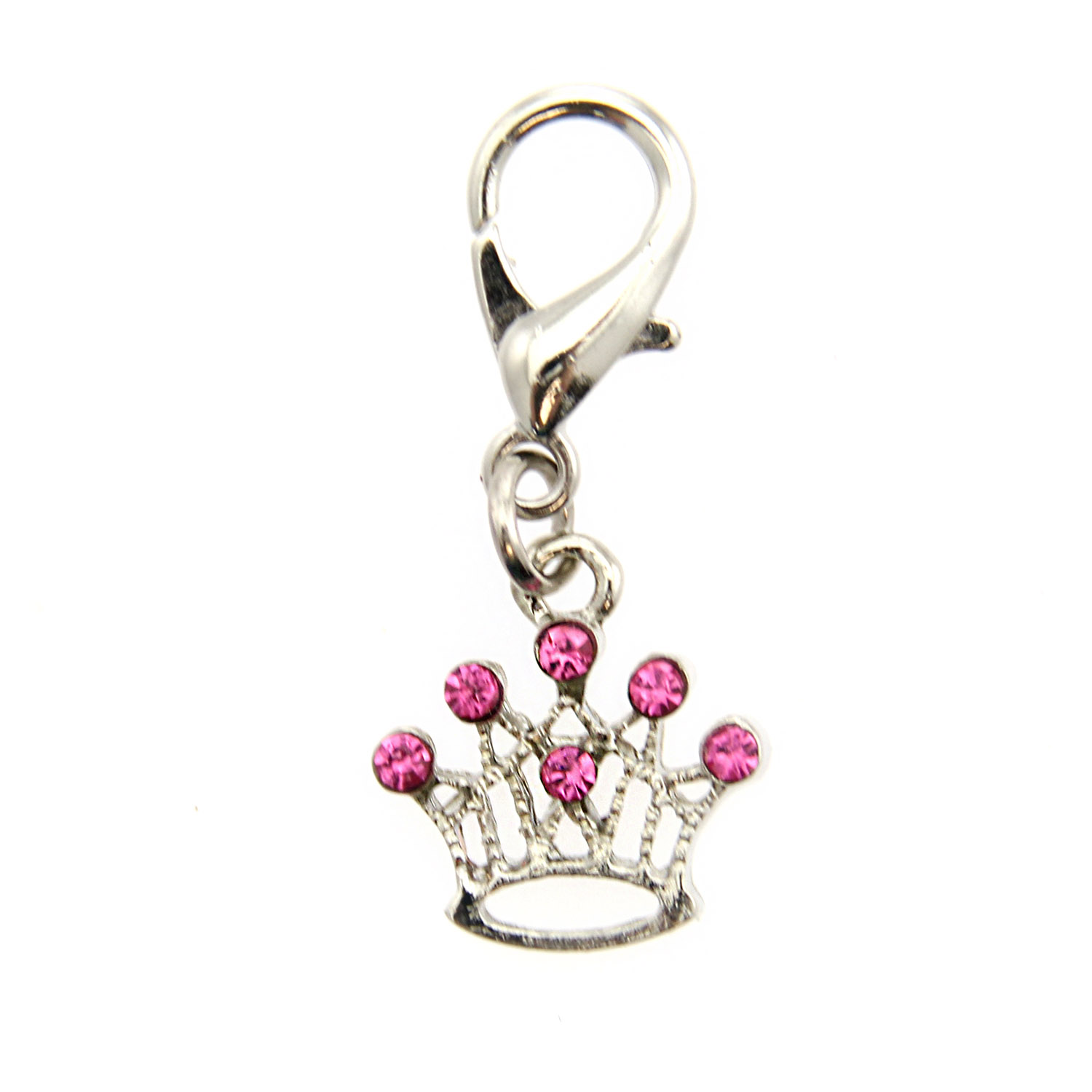 Crown D-Ring Pet Collar Charm by foufou Dog - Pink