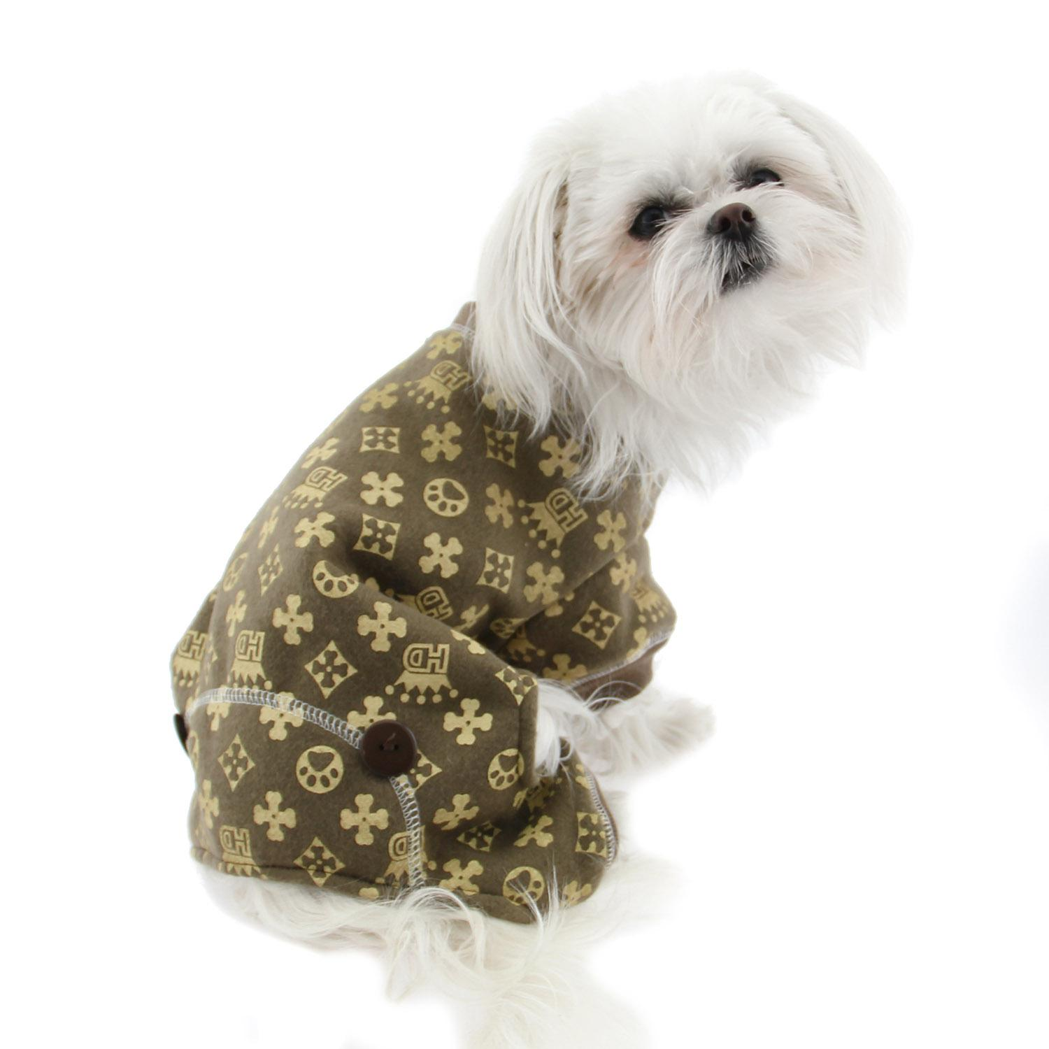 07c3ca19092f Crown Dog Pajamas by Hip Doggie - Brown