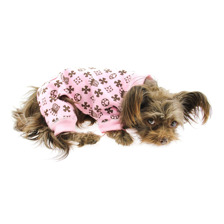 Crown Dog Pajamas by Hip Doggie - Pink