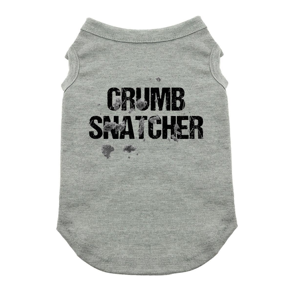 Crumb Snatcher Dog Shirt - Gray