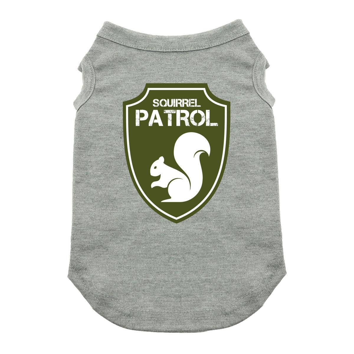 Squirrel Patrol Dog Shirt - Gray