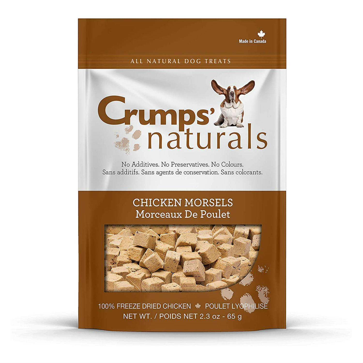 Crumps' Naturals Freeze Dried Morsels Dog Treat - Chicken