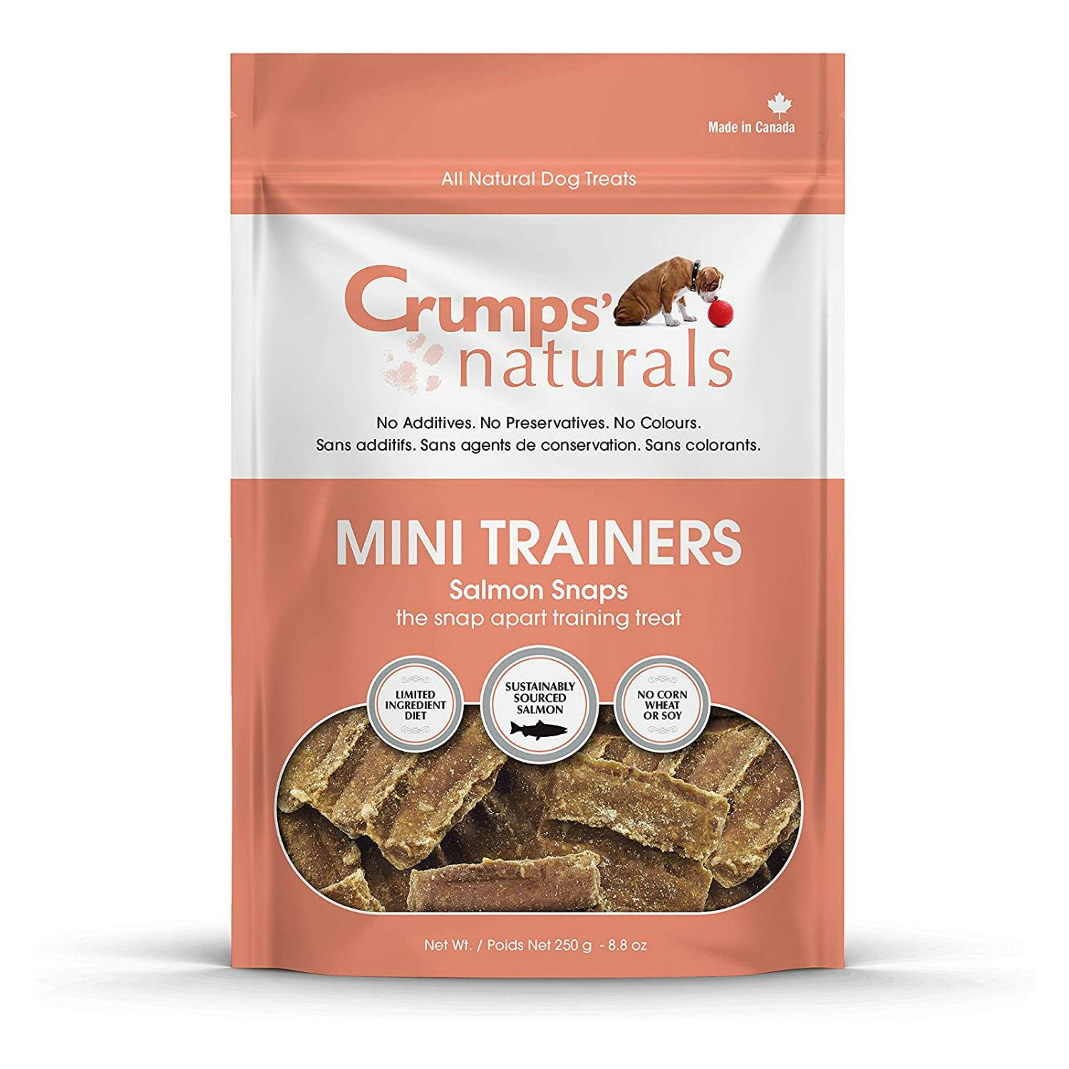 Crumps' Naturals Mini Trainers Dog Treats - Salmon Snaps