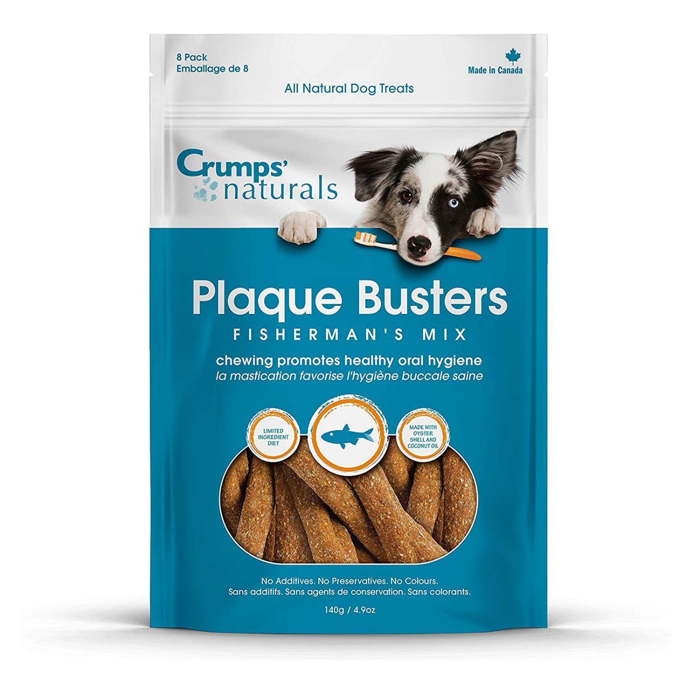 Crumps' Naturals Plaque Buster Fisherman's Mix Dog Treats