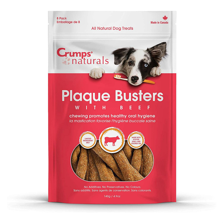 Crumps' Naturals Plaque Buster Beef Dog Treats