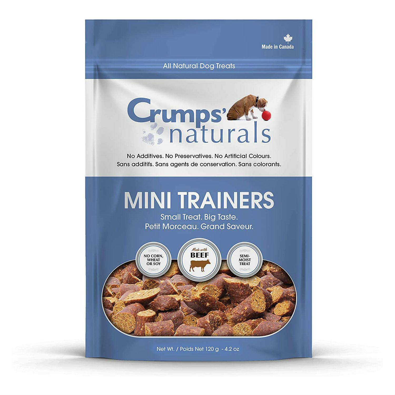 Crumps' Naturals Semi-Moist Mini Trainers Dog Treats - Beef