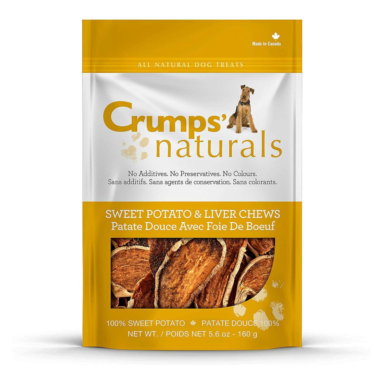 Crumps' Naturals Sweet Potato & Liver Chews Dog Treats