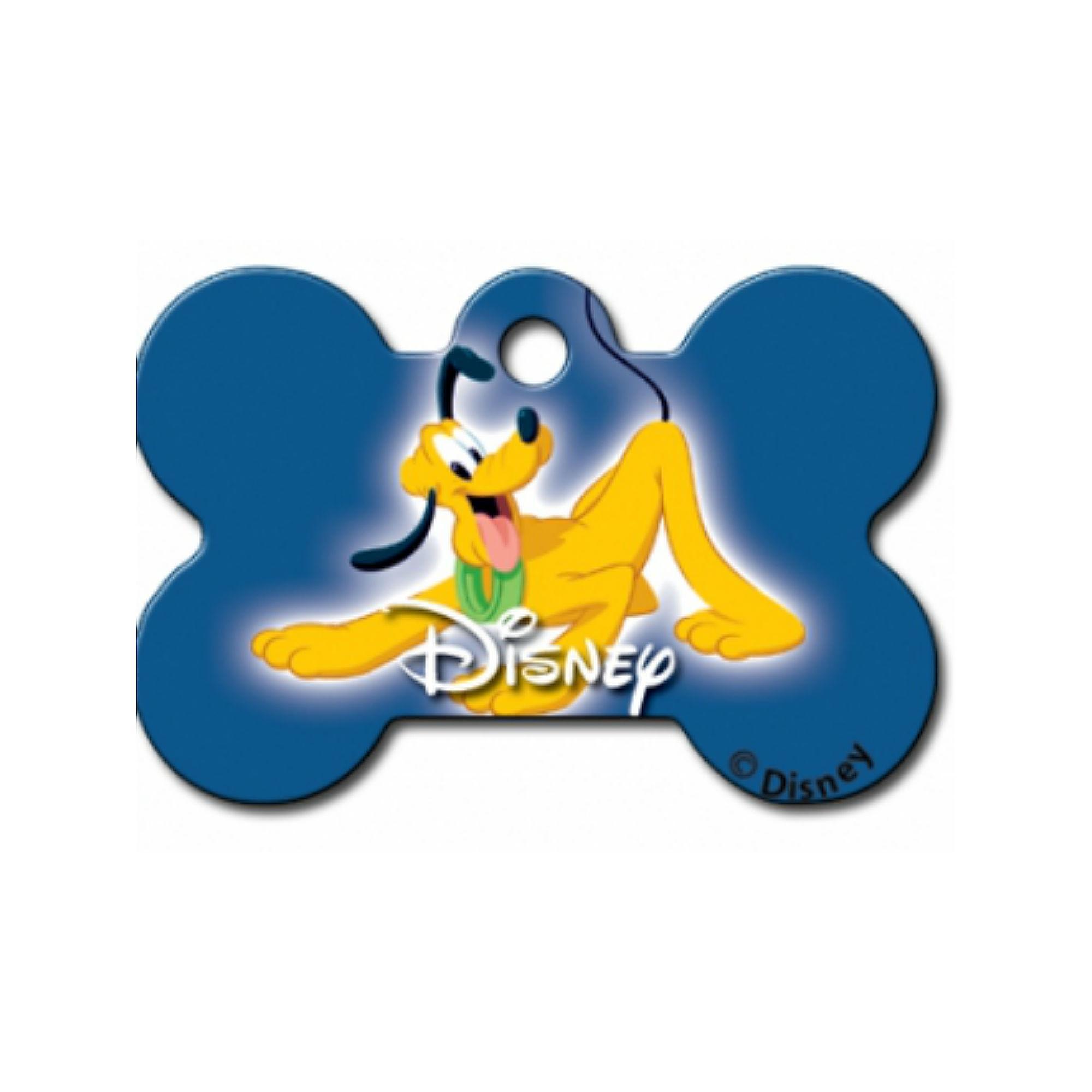 Disney© Pluto Bone Large Engravable Pet I.D. Tag - Blue