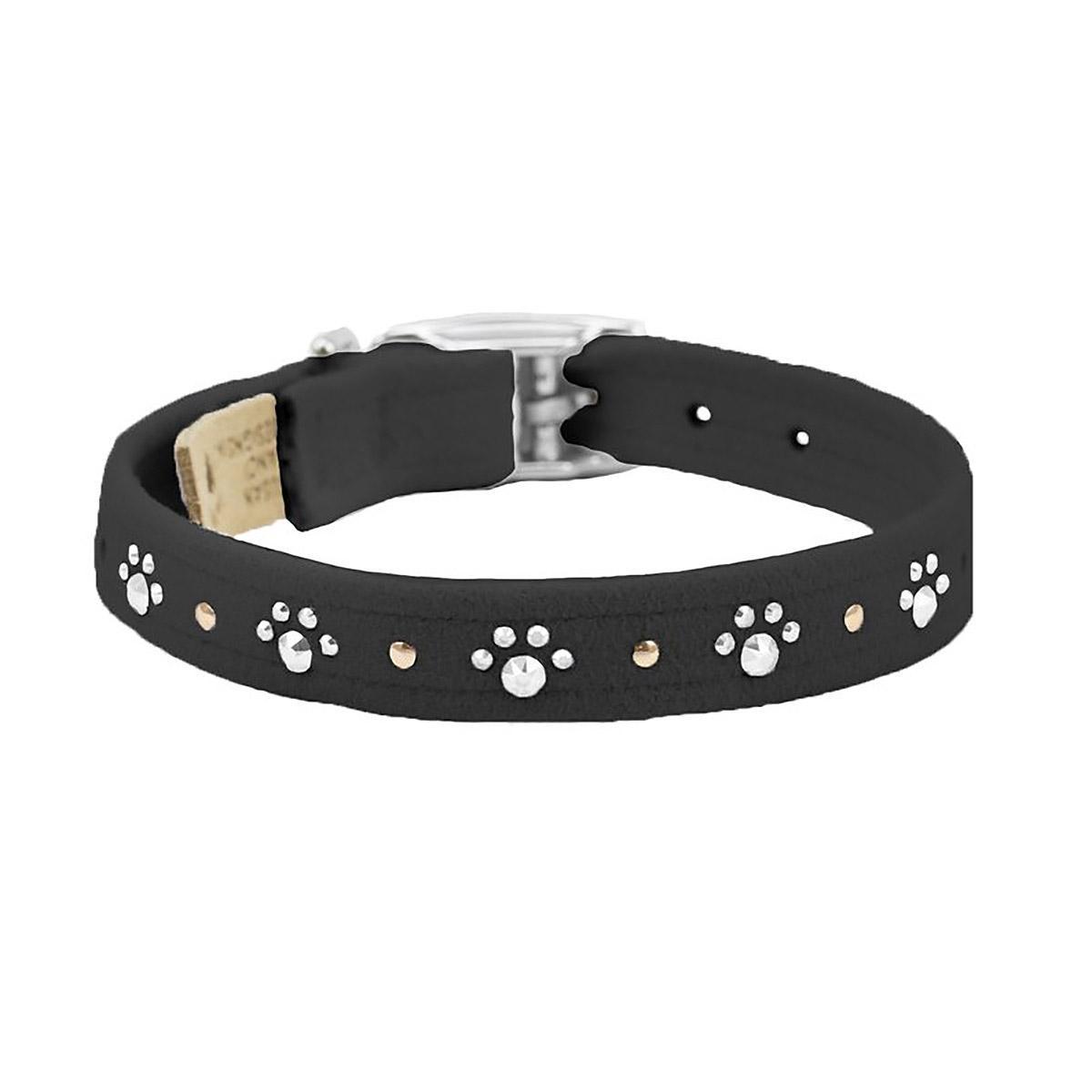 Crystal Paws Dog Collar by Susan Lanci - Black