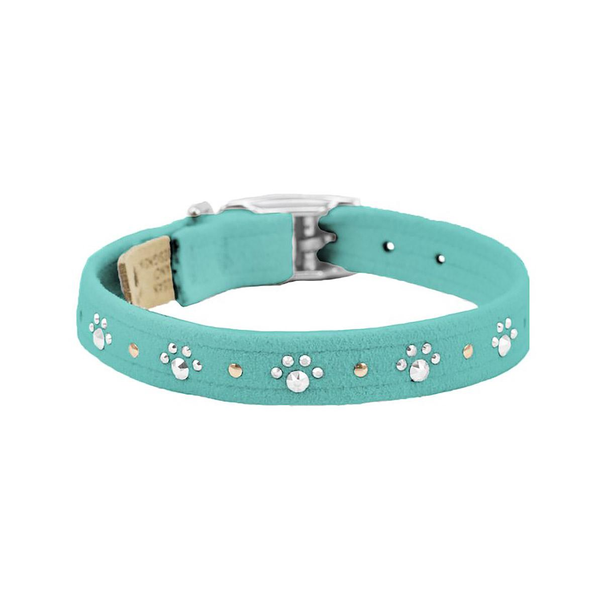 Crystal Paws Dog Collar by Susan Lanci - Bimini Blue