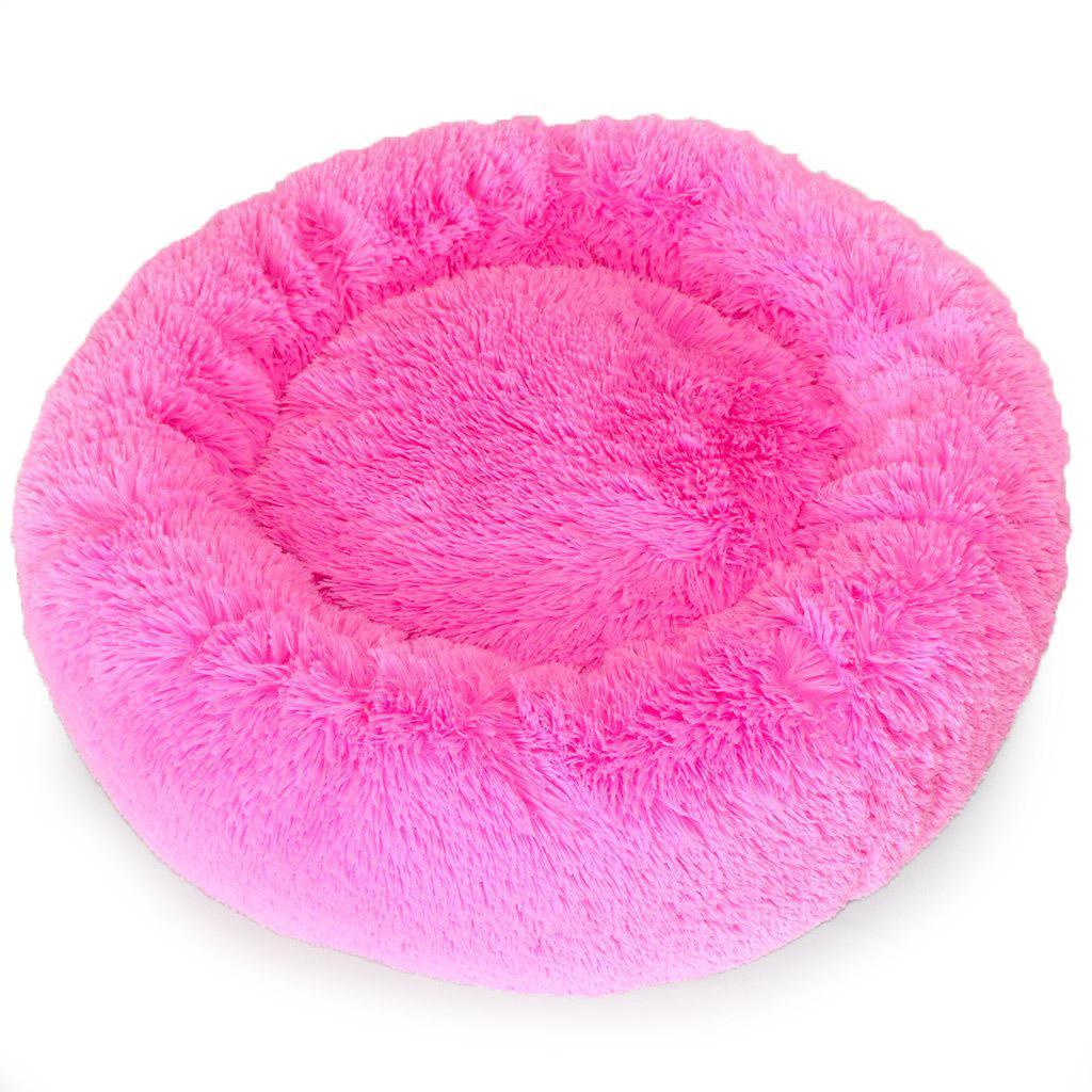 Cuddle Shag Dog Bed by Hello Doggie - Fuchsia