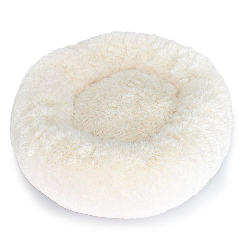 Cuddle Shag Dog Bed by Hello Doggie - Cream