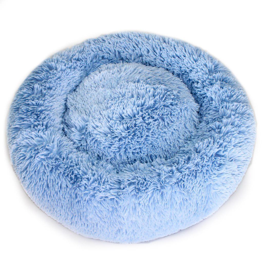 Cuddle Shag Dog Bed by Hello Doggie - Blue