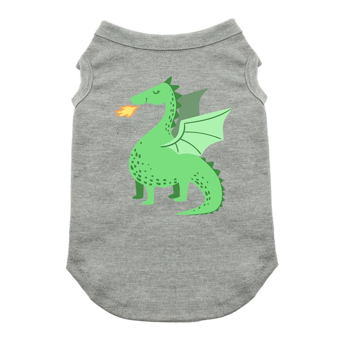 Cute Dragon Dog Shirt - Gray