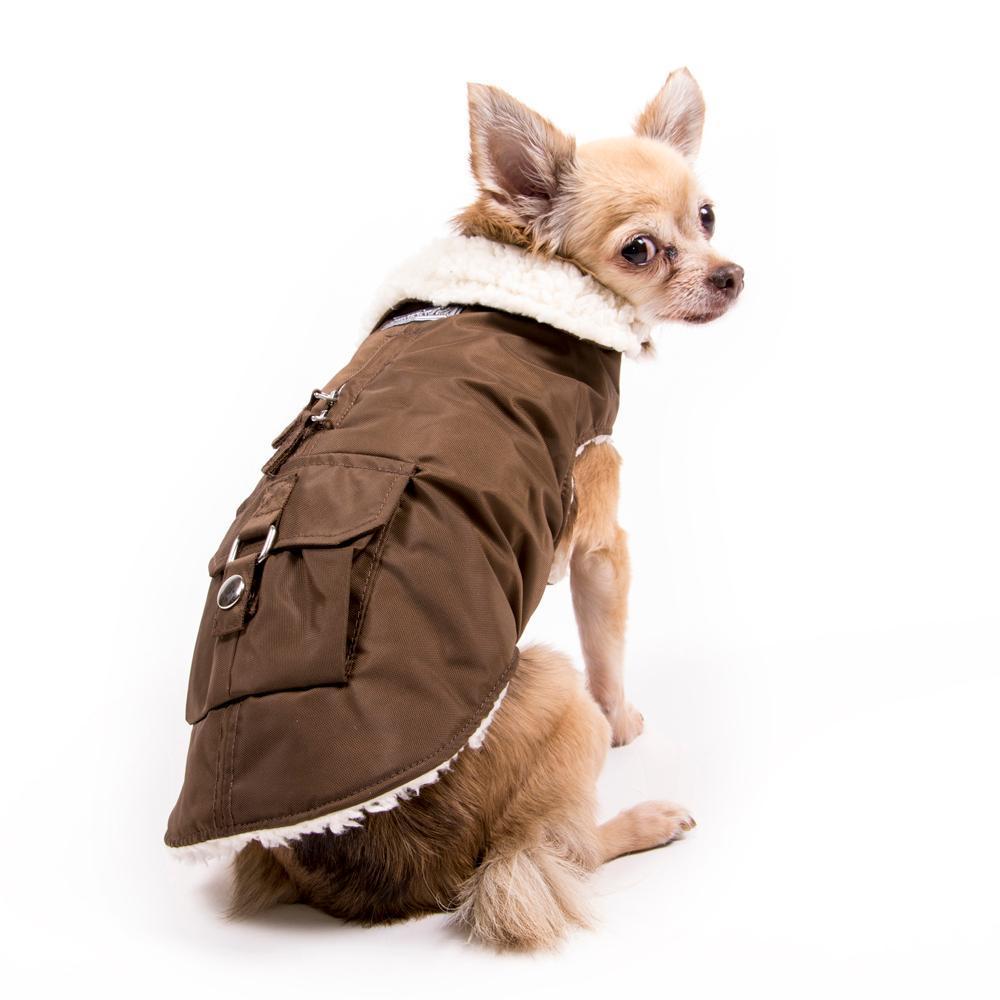 Aspen Dog Parka - Chocolate