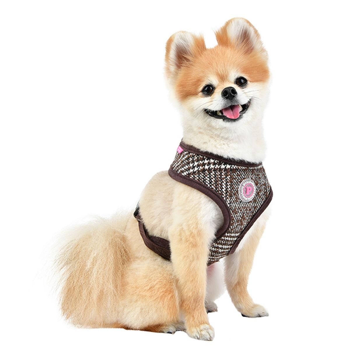 Da Vinci Basic Style Dog Harness By Pinkaholic - Brown