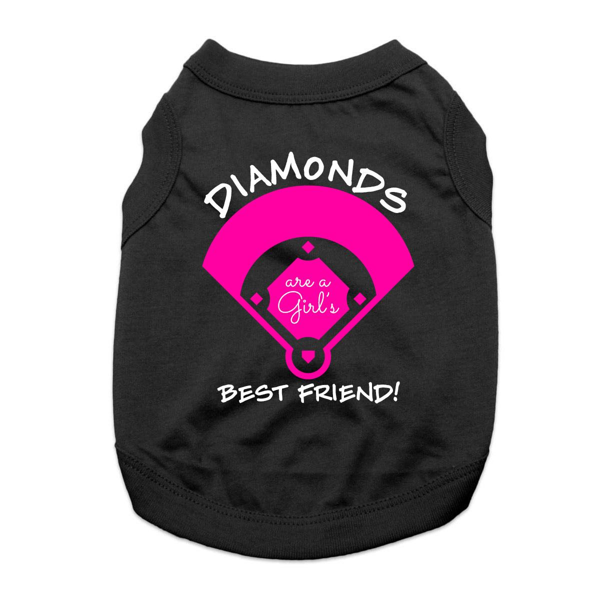 Diamonds are a Girl's Best Friend Dog Shirt - Black
