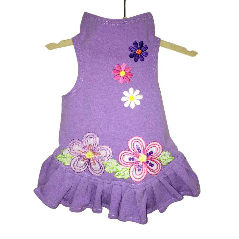 Daisy & Lucy Flower Power Dog Dress - Lilac