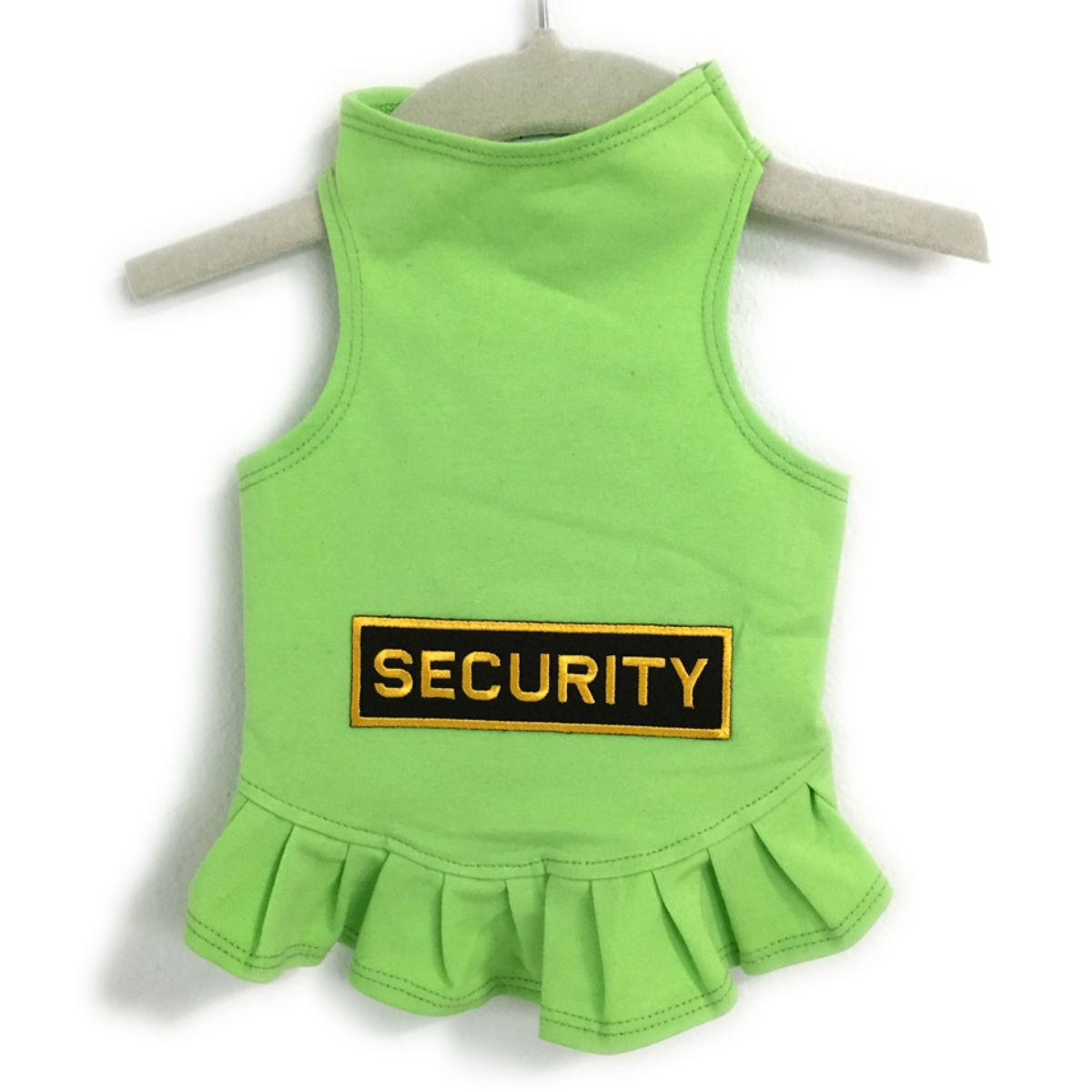 Daisy & Lucy Security Dog Dress - Lime