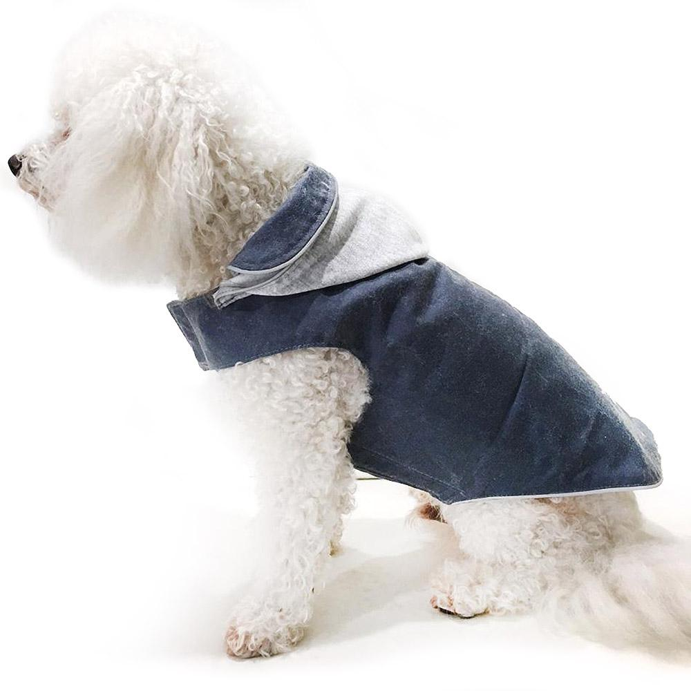 Daisy and Lucy Waxed Winter Dog Coat - Navy