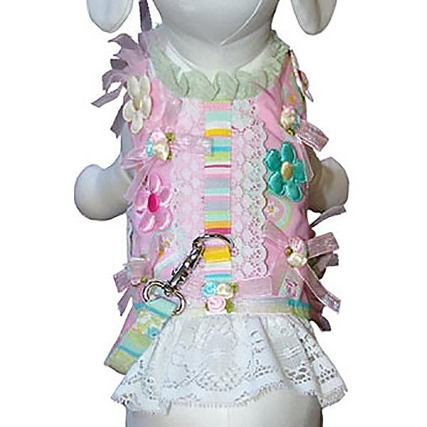 Daisy Mae Dog Harness Vest with Leash by Cha-Cha Couture