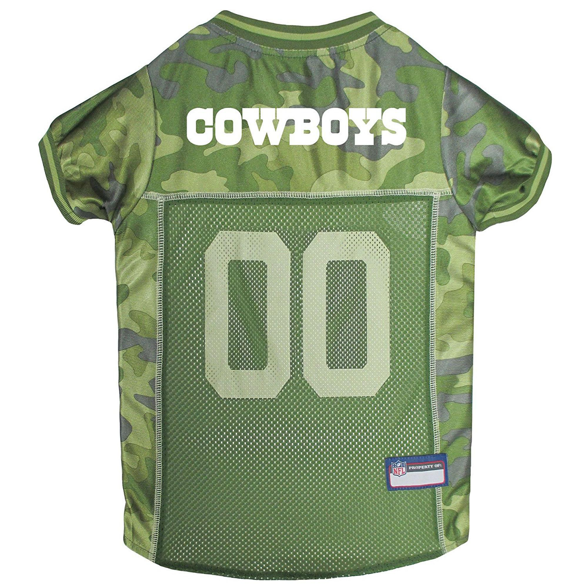 Dallas Cowboys Dog Jersey - Camo