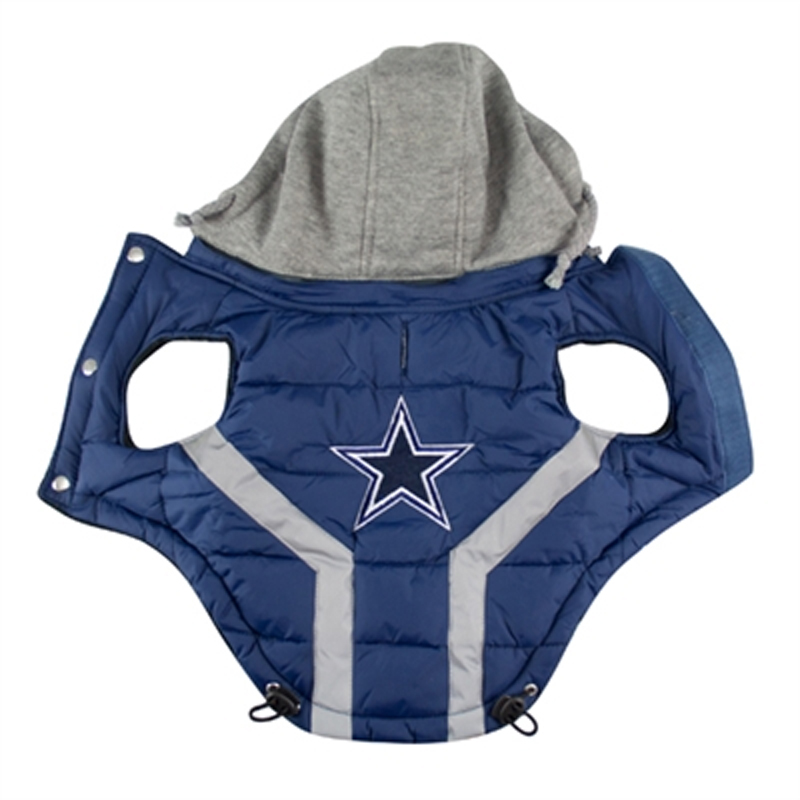 on sale 0a316 52ed3 Dallas Cowboys Dog Puffer Vest