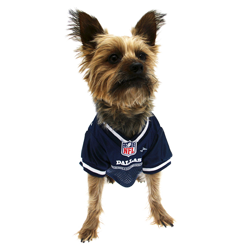 sale retailer dbafb b189c Dallas Cowboys Officially Licensed Dog Jersey - White Trim