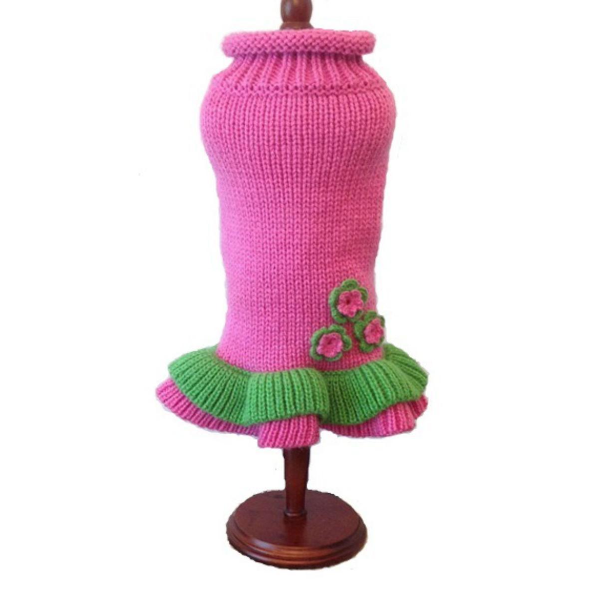 Dallas Dogs Girly Girl Dog Sweater Dress