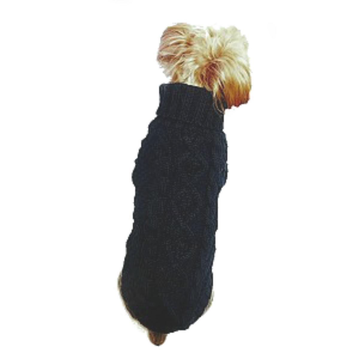 Dallas Dogs Irish Knit Dog Sweater - Black