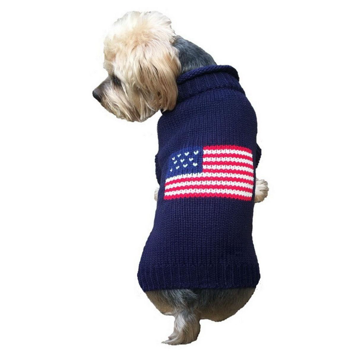 Dallas Dogs Patriotic Pup Dog Sweater - Navy