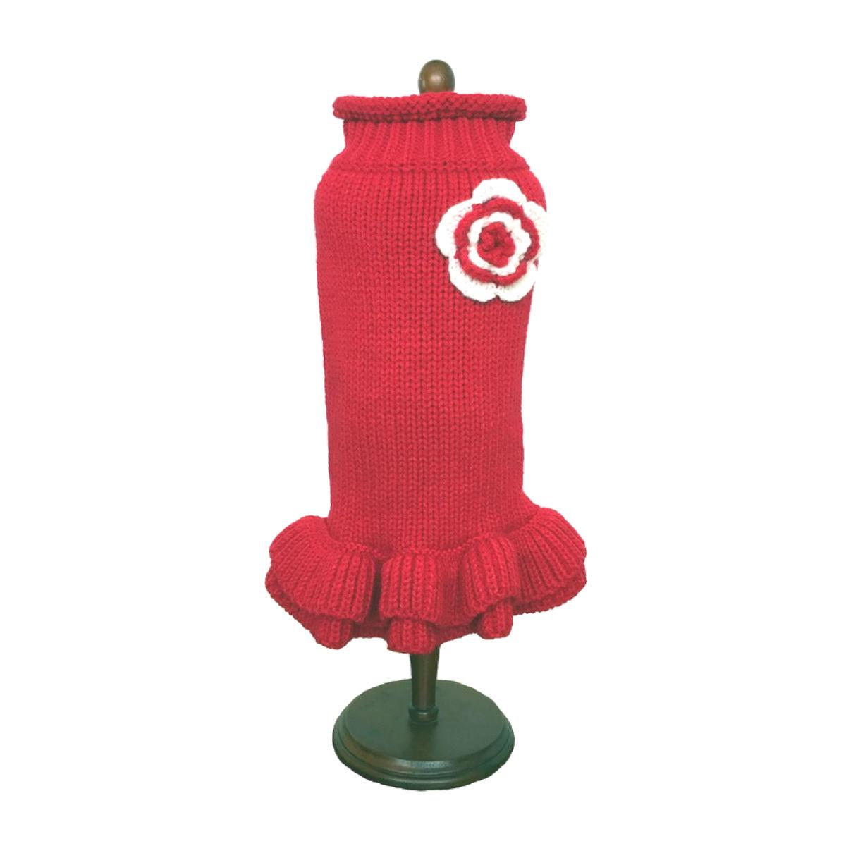 Dallas Dogs Red Sweater Dog Dress