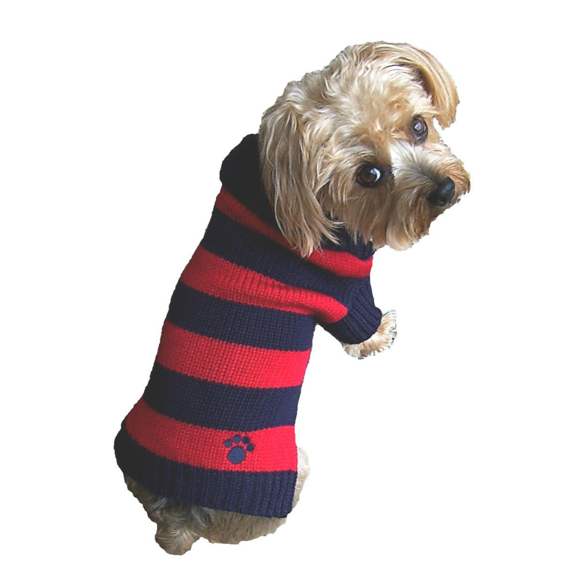 Dallas Dogs Rugby Dog Sweater - Blue and Red