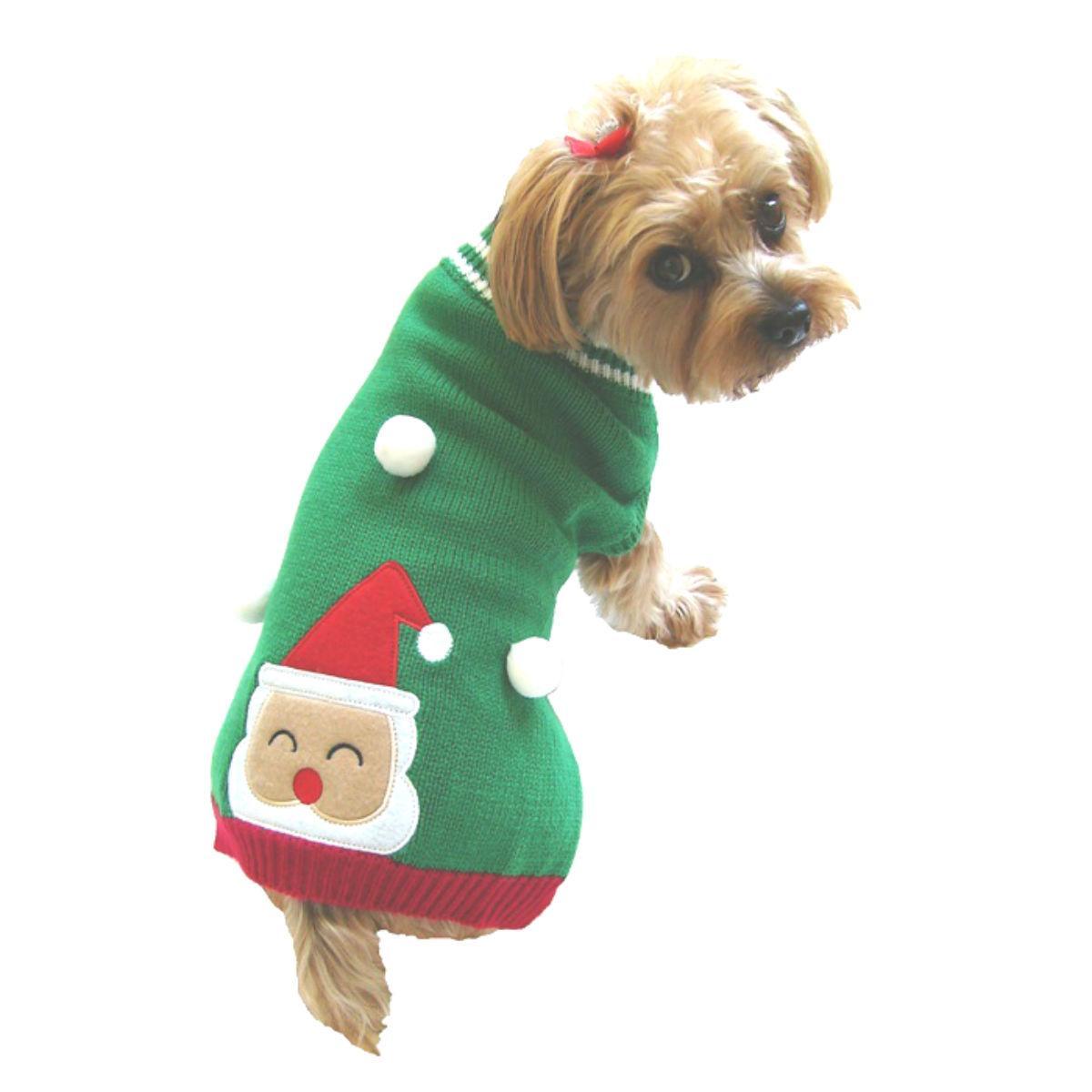 Dallas Dogs Santa in Snow Dog Sweater