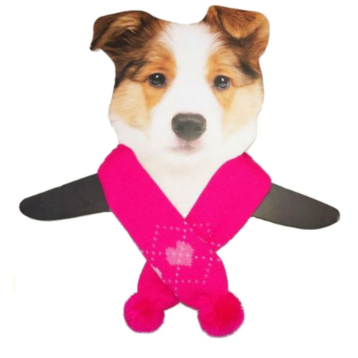 Dallas Dogs Sassy Dog Scarf - Pink Hearts