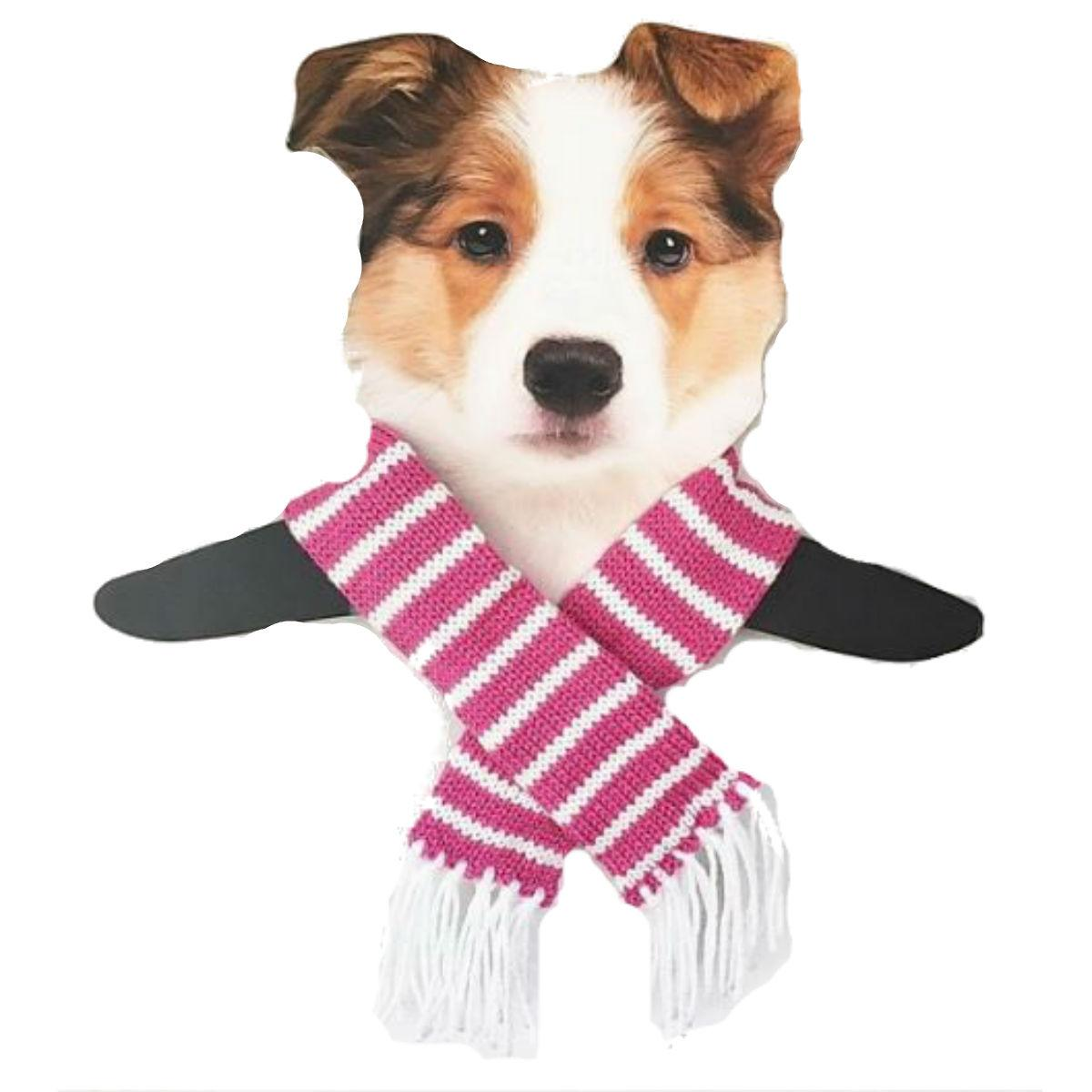 Dallas Dogs Sassy Striped Dog Scarf - Pink and White